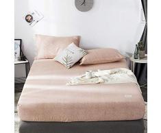 GUANLIDE Baumwolle Spannbettlaken,Spannbetttücher, flaches Stück Baumwolle, Matratzenbezug für Schlafzimmertextilien vertiefenKhaki_180 * 200cm
