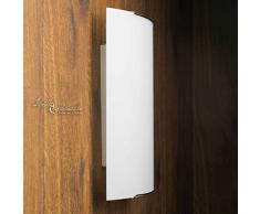Tolle Wandleuchte in Weiß Zeitloses Design inkl. 1x 12W E27 LED 230V Wandlampe aus Glas für Wohnzimmer Schlafzimmer Lampen Leuchte innen Beleuchtung