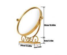 HBWJSH Spiegel Spiegel Mini runde Tisch Schlafzimmerspiegel, DREI Größen erhältlich (größe : 34 * 11 * 50cm)