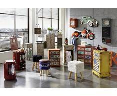HAKU Möbel 27961 Kommode, 30 x 30 x 72 cm, gekälkt / kupfer antik