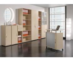 Gera Möbel S-382501-LG Schiebetürenschrank Mailand 2 OH mit Standfüßen, 80 x 40 x 75,2 cm, lichtgrau