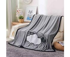 Weiche Decken verdicken hautfreundlich atmungsaktiv Single Doppel für Stuhl Schlafsofa -Max Home ( Farbe : Grau , größe : 180*200cm )