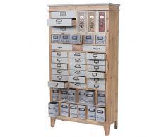 Mendler Apotheker-Schrank HWC-A43, Kommode, Tanne Holz massiv Vintage Shabby-Look 152x81x34cm