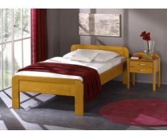 Seniorenbett KÖLN - Harmonisches Designerbett - Buche massiv auf Eiche gebeizt, Größe:100x200cm