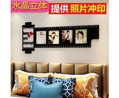 LiTie Acryl 3d Wall kunst film Frame modernes Wohnzimmer Schlafzimmer Fotos als Hintergrund Wandspiegel Dekorationen, Cross Edition Schwarz + Rot,