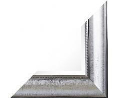 Beauty.Scouts Wandspiegel Asamta II, Spiegel, Rahmenspiegel, Klarglas, Facette, PS, chromfarben, Wohnzimmer, Schlafzimmer, Jugendzimmer, Flur, Diele, inkl. Aufhänger, 80x180cm