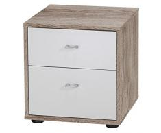 Wiemann 597650 Tokio Nachttisch, Holz, trüffeleiche-nachbildung, 43 x 40 x 42 cm, montiert