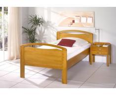 Seniorenbett BRILON - gleischmäßiges Designerbett - Buche massiv auf Eiche gebeizt, Größe:100x210cm