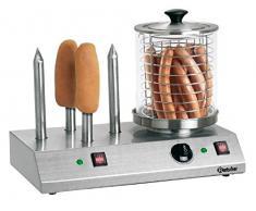 Bartscher BA. a120.408 zu synchronisieren Hot Dogs mit 4 Tellerrahmen geheizt für kleine Brot Edelstahl 50 x 28,5 x 39 cm