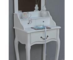 Schminktisch Konsole Spiegel weiß antik Landhaus Holz Frisiertisch schmal Tisch