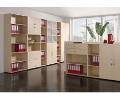 Gera Möbel Schranksystem Flex Schiebetürenschrank, Holzdekor, Ahorn/Lichtgrau, 120 x 42.5 x 118.2 cm