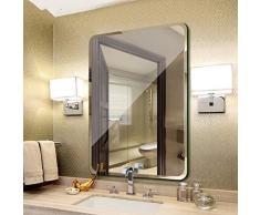 Badezimmer-Wand-Hängender Spiegel Prinzessinspiegel Badezimmer-Frisierspiegel Wohnzimmer-in Voller Länge Spiegel Schlafzimmerspiegel Foto-Spiegel gerundet Spiegel (Color : Weiß, Size : 30cm*40cm)