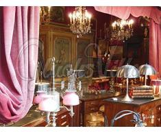 Wie in alten Zeiten - Exklusives Glücksvilla-Künstlermotiv, 120 x 90 cm, Wandbild als XXL-Druck auf Acrylglas. alt, Zeit, Zeiten, Renaissance, Barock, Biedermeier, Jugendstil, Schrank, Lampe, Kronleuchter, Wohnzimmer, Haus, Kommode,