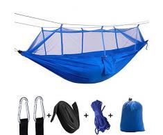 Leezo Ultraleichte Parachute Hängematte Mit Moskitonetz Jagd Schaukel Hängesessel Doppel Person Schlafsofa Outdoor Camping Tragbare Hängematte, Camping Hängematte Mesh Net
