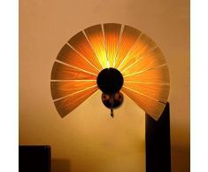 FHK,Wandleuchten Südost-New Chinese Holz Schlafzimmerspiegel vor der Wandleuchte Wandleuchte Korridor Hotel Restaurant Hoteleingang Beleuchtung aisle Dekorative Wandleuchten