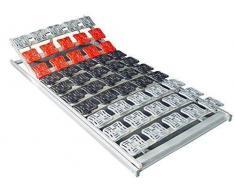 Supply24 5 Zonen Teller Lattenrost/Tellerfeder Lattenrahmen 120 x 200 oder 140 x 200 cm Kopfteil und Fußteil verstellbar Tellerlattenrost/Tellerlattenrahmen günstig