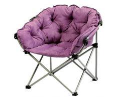 Klappbarer Liegestuhl, waschbare Einzelliege Schlafsofa Runde Kreative Klapp-Sonnenliegen aus faulem Wildleder