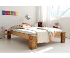 TIGON Bambusbett ohne Rückenlehne 90x200cm, Höhe 40cm