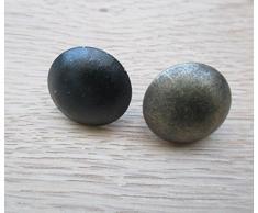 Ironmongery World® 25 x große Stahl Polster Möbel Stoff Nägel Nieten Nägel Pins Holz Truhe (schwarz antik)