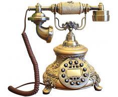 Nfudishpu Harz Telefon Ornamente Antik Retro Telefon Dekoration Festnetz Praktische Nachttisch Handwerk Anordnung