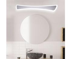JJZHG Wandleuchte Wasserdicht Spiegel Scheinwerfer rechteckige LED-Spiegel Scheinwerfer EdelstahlScheinwerfer Schlafzimmerspiegel ScheinwerferFrontleuchte Spiegelschrank Wandleuchte Make-up Lampe