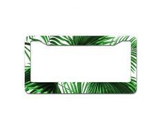 Mesllings Tropical Rainforest Green Leaves Nahtloser Tellerrahmen, Kennzeichenhalter, 30,5 x 15,2 cm, passend für jedes Auto, LKW, SUV, Wohnmobil oder Anhänger
