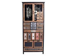 XXL Hochkommode Loft Vitrinenschrank Apothekerkommode Industrie Vitrine lof043 Palazzo Exklusiv