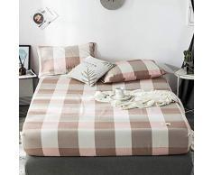 GUANLIDE spannbettlaken übergröße,Spannbetttücher, flaches Stück Baumwolle, Matratzenbezug für Schlafzimmertextilien vertiefenBrown_100 * 200cm