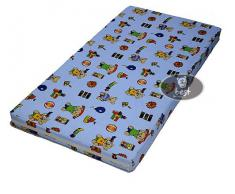 Kinderbettmatratze, Babymatratze 60x120 cm Kinder Rollmatratze, Bezug 100% kuschelweiche Microfaser, blau