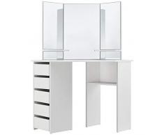 ArtLife Schminktisch Nova weiß modern   Frisiertisch mit Spiegel, Schubladen & Ablagefächern   Kosmetiktisch für Damen, Teenager & Mädchen