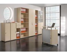 Gera Möbel S-381501-BU Anstell-Schiebetürenschrank Mailand 2 OH für Tische zum Anstellen mit Bodengleiter, 80 x 40 x 72 cm, buche