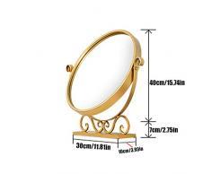 JTWJ Spiegel Spiegel Mini runde Tisch Schlafzimmerspiegel, DREI Größen erhältlich (größe : 30 * 10 * 40cm)