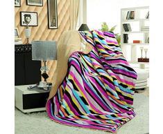 YIWANGO Kaschmirdecke Dicke Doppel Warme Wildleder Decke Schlafsofa Klimaanlage Reise Doppelte Decke,A2