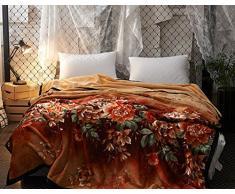 Weiche Decken verdicken Einzel Doppel Hautfreundlich Komfortabel und atmungsaktiv Anwendbar für Stuhl Schlafsofa -Max Home ( Farbe : Braun , größe : 150*200cm )