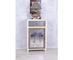 PALAZZO INT Vintage Nachtschrank Shabby Chic Nachtkommode Spiegel Nachttisch