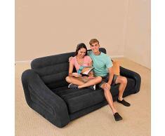 ZLZL 5 In 1 Aufblasbare Multifunktions Doppel Luftbett Sofa Stuhl Couch Liege Matratze Klapp Faul Aufblasbare Schlafsofa Mittagspause (5 In 1 Sofa Luftbett Couch),Black