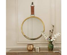 Wandspiegel Badezimmerspiegel Runder Spiegel Badezimmerspiegel Schlafzimmerspiegel Kosmetikspiegel Spiegel (Color : Gold, Size : 60 * 60 * 0.5cm)