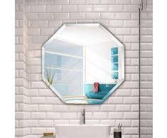 LXYPLM Wandspiegel Spiegel Octagon dekorativer Schminkspiegel Wohnzimmer Schlafzimmer Eingangsbereich Spiegel Badezimmer Eitelkeit (Size : 40cm)
