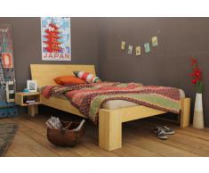 SUVA Bambusbett mit Rückenlehne Hainan 140x220cm Überlänge, Höhe 40cm