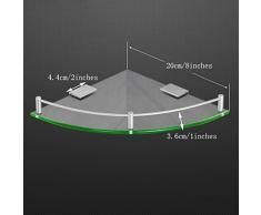 YXN Raum-Aluminiumglas-Badezimmer-Regal-Badezimmer-Dreieck-einzelne Metallanhänger-Eckkommode (größe : 20cm)