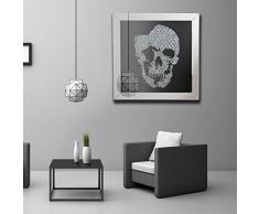 Große Wandspiegel 3D Totenkopf Kristall Juwel Home Flur Lounge Wohnzimmer, Schlafzimmer Dekorative Modular Wandbild
