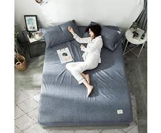 GUANLIDE Baumwolle bettlaken,Spannbetttücher, flaches Stück Baumwolle, Matratzenbezug für Schlafzimmertextilien vertiefenDunkelgrau_180 * 200cm