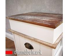 dasmöbelwerk Shabby Vintage Kommode mit Schubladen Nachttisch 2719