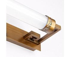 ASDF Chinese Spiegel Frontlicht Führte Schlafzimmerspiegel Leuchte Wandleuchte Make-up Lampe Badezimmer Badezimmer Spiegelschrank Lichter 470mm [Energieklasse A +++]