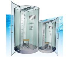 AcquaVapore DTP6037-3002 Dusche Dampfdusche Duschtempel Duschkabine 90x90, EasyClean Versiegelung der Scheiben:2K Scheiben Versiegelung +99.-EUR