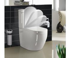 Stand WC komplett aus Keramik inkl. softclose WC Sitz auf Knopfdruck abnehmbar