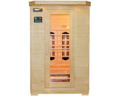 Artsauna Infrarotkabine Oslo mit Vollspektrumstrahler | 2 Personen | Hemlock Holz | 120 x 100 cm | Infrarotsauna Infrarot Wärmekabine Sauna Kabine