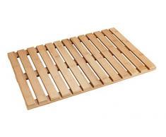 WENKO Baderost Indoor und Outdoor Bambus - Badematte, Bodenrost für Dusche, Bad, Pool, Sauna mit rutschhemmender Unterseite, Bambus, 40 x 60 cm