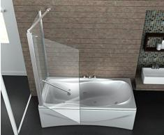 Eck-Duschtrennwand UNIONO 80 (Badewanne)
