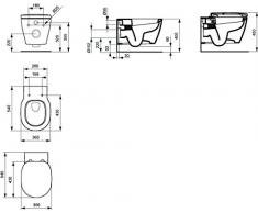 Ideal Standard Connect Wand-WC weiß; Tiefspül-WC